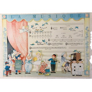 French Children's Music Poster For Sale