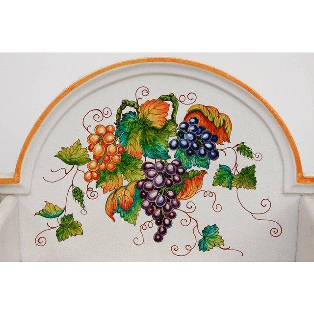 Ceramic Italian Pottery Ceramic Hibachi or Garden Sink Surround For Sale - Image 7 of 13