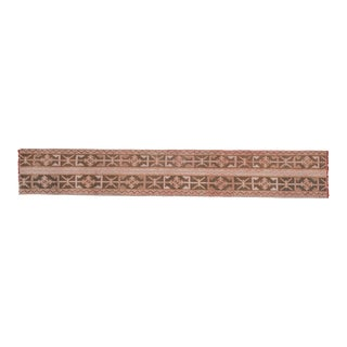 """Long and Narrow Turkish Runner Rug 1'7"""" X 10'1"""" For Sale"""