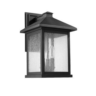 Carriage House 3 Light Outdoor Wall Sconce, Black (Aluminum) For Sale