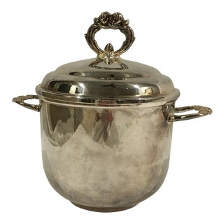 1950s Art Nouveau Leonard Silver Plate Ice Bucket For Sale