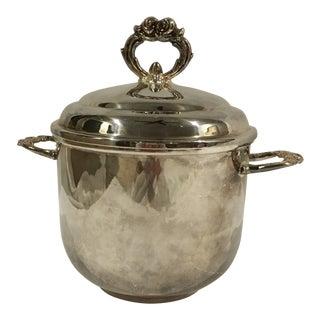1950s Art Nouveau Leonard Silver Plate Ice Bucket