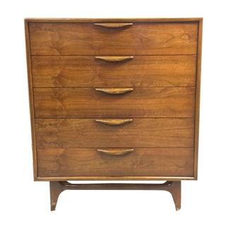 Lane Altavista Walnut Highboy Dresser