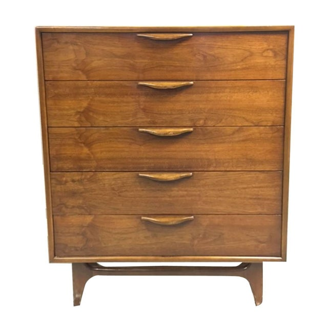 Lane Altavista Walnut Highboy Dresser - Image 1 of 4