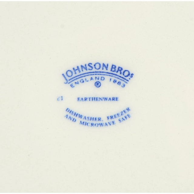 2000 - 2009 Johnson Brothers Denmark Blue Salad Plate - Set of 4 For Sale - Image 5 of 6