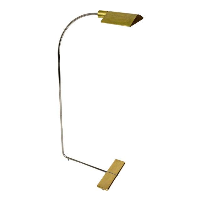 1970s Cedric Hartman Brass Floor Lamp For Sale