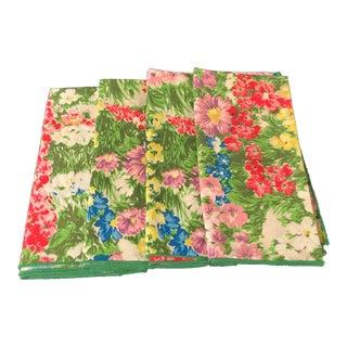Floral Cloth Napkins - Set of 4 For Sale