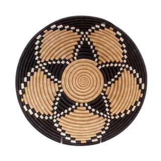 African Sweet Grass & Sisal Wall Hanging Basket