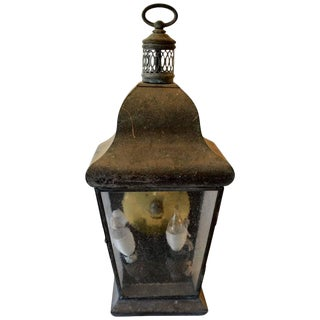 Zinc Carriage Lantern For Sale