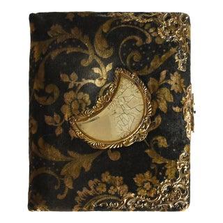 Late 19th Century Victorian Art Nouveau Velvet Photo Album For Sale