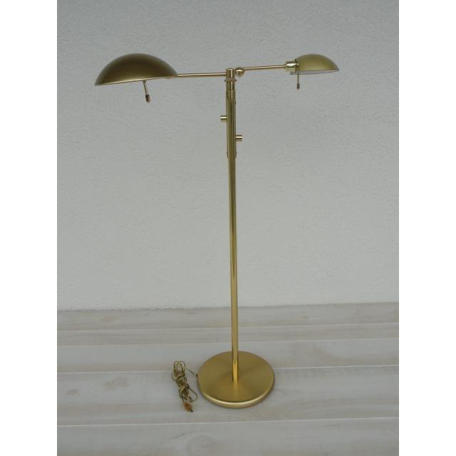 Art Deco Holtkoetter Brass Dual Swing Arm Floor Lamp For Sale - Image 3 of 13