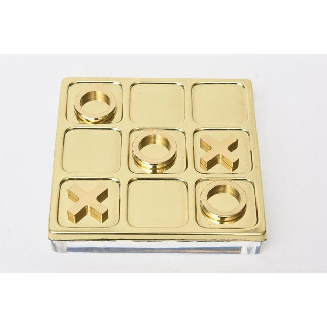 Brass Tic Tac Toe Game Mid-Century Modern For Sale - Image 4 of 9