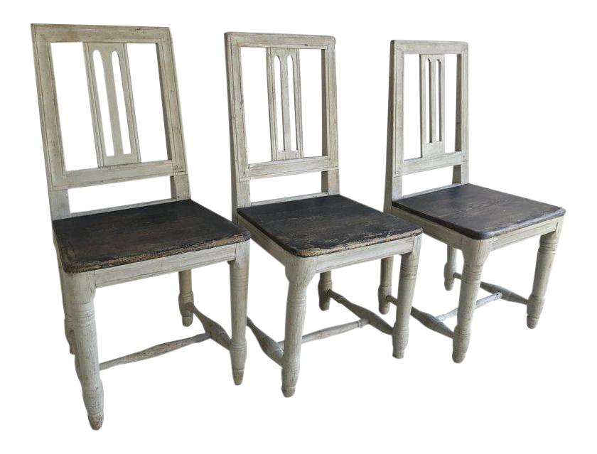 19th Century Swedish Gustavian Chairs   Set Of 3