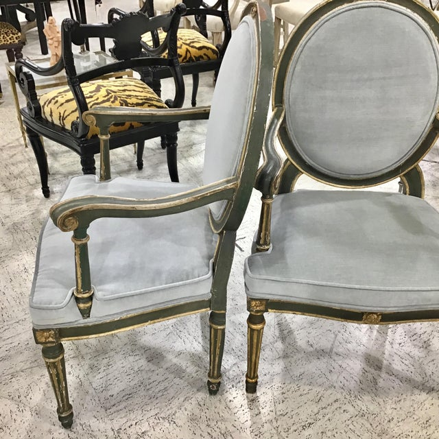 Pair of 18th Century Italian Neoclassic Armchairs For Sale - Image 11 of 13