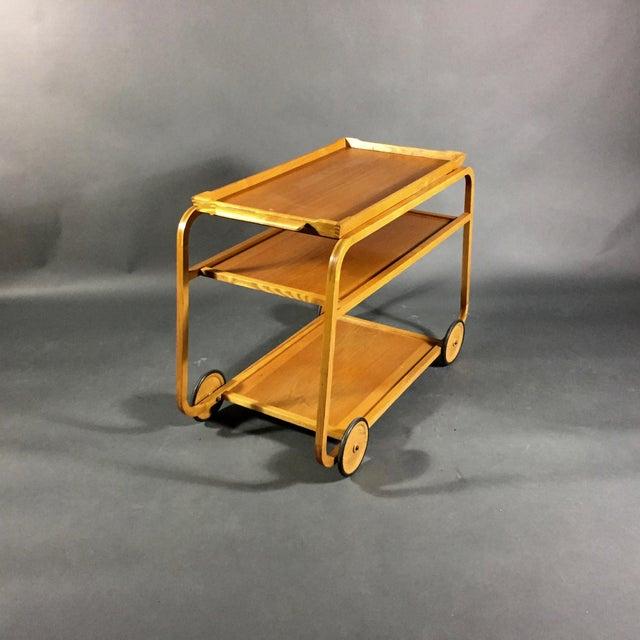 1940s Birch Bar Cart by Reimers Möbler , Mjölby Sweden For Sale In New York - Image 6 of 9