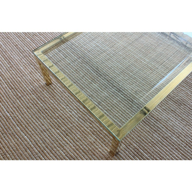 1970s Brass Plated Coffee Table by James Howell, 1970s, USA For Sale - Image 5 of 11