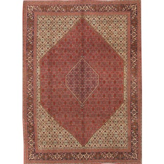 "Pasargad Hand-Knotted Persian Bidjar Rug - 9'5"" X 11'9"" For Sale"