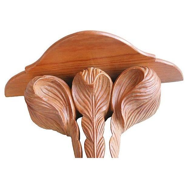 1940s Carved Wood Shelf - Image 5 of 5