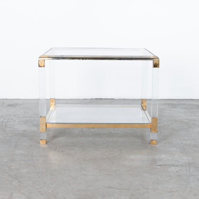 Mid-Century Modern 1970s French Glass and Resin Coffee Table For Sale - Image 3 of 4