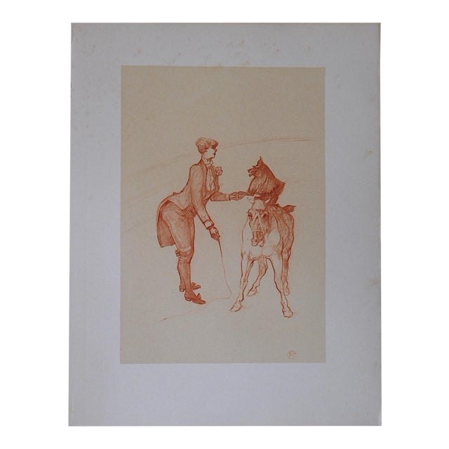Vintage Toulouse Lautrec Circus Lithograph For Sale