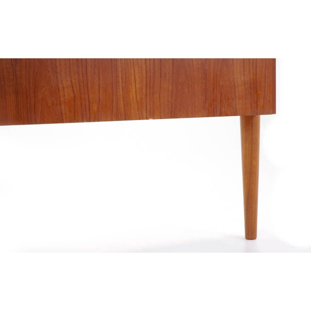 1950s Danish Modern Arne Vodder Teak Desk With Built in Bar For Sale - Image 10 of 10