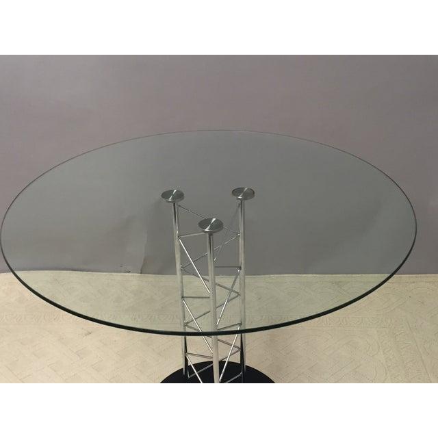 Italian Glass & Chrome Round Table For Sale In Philadelphia - Image 6 of 8