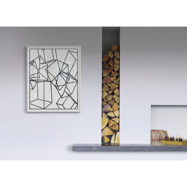Black Cubes on White 1 Print on Paper For Sale - Image 4 of 5
