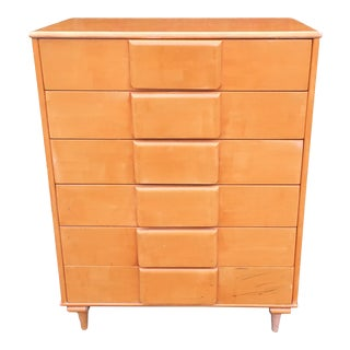 Vintage Mid Century Modern Highboy Dresser For Sale
