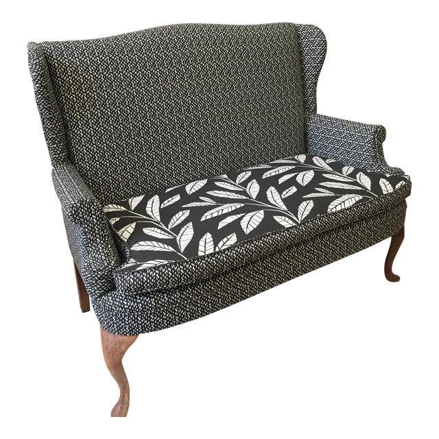 Miraculous 1930S Vintage Reupholstered Black And White Loveseat Gamerscity Chair Design For Home Gamerscityorg