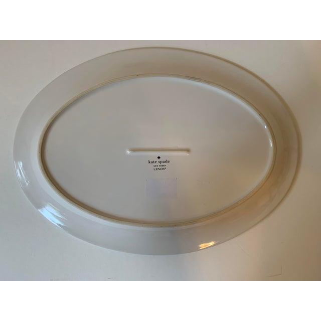 Kate Spade Kate Spade Lenox Rutherford Green Serving Platter For Sale - Image 4 of 7
