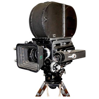 Mitchell BNCR Camera Blimp Complete Sculpture Circa 1950s On Vintage Tripod. Rare And Important. For Sale