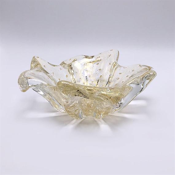 Gold Murano bowl with 22k gold flecks, c. 2000.