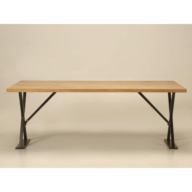 Industrial Inspired Kitchen Table From French White Oak and Steel