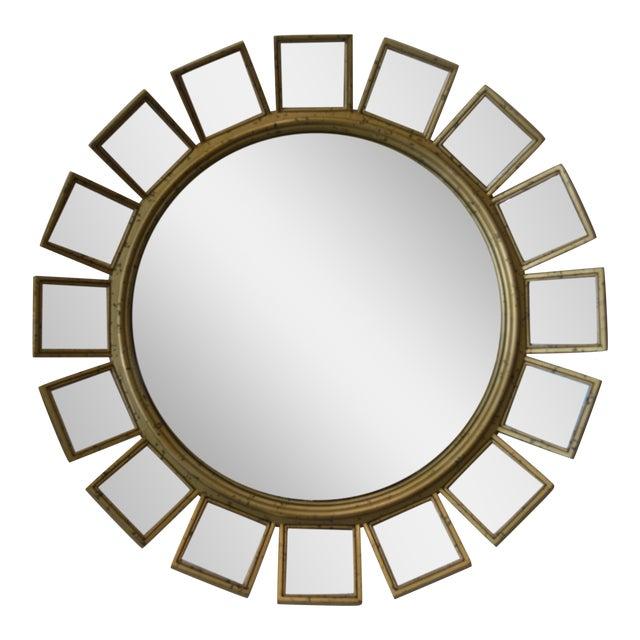 Silver Leaf & Mirrored Sunburst Wall Mirror - Image 1 of 5