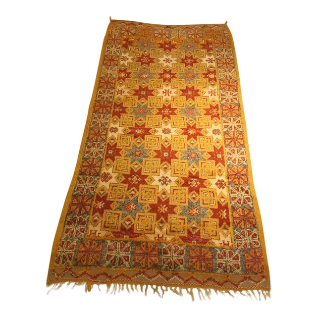 Gold Multi Moroccan rug For Sale