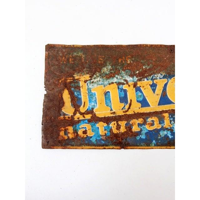 """Vintage """"Universal Nautral Milker"""" Metal Sign For Sale - Image 4 of 7"""