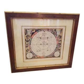 Custom Frame Celestial Map For Sale