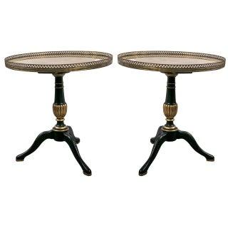 1940s Jansen Louis XVI Style Side Tables - A Pair