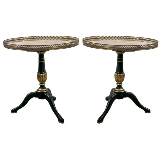 1940s Jansen Louis XVI Style Side Tables - A Pair For Sale