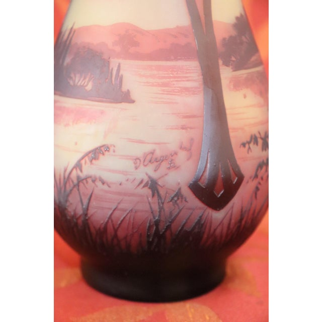 20th Century French Art Nouveau Vase in Cameo Glass, by Paul Nicolas d'Argental For Sale - Image 4 of 7