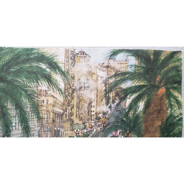 "Impressionist Franklin McMahon ""Powell Street, San Francisco"" Original Watercolor C.1981 For Sale - Image 3 of 10"