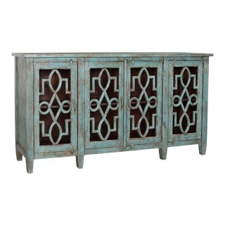 Blue Crackle Sideboard