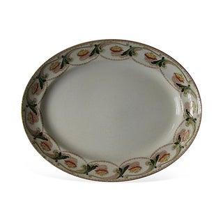 English Art Nouveau Transferware Platter For Sale