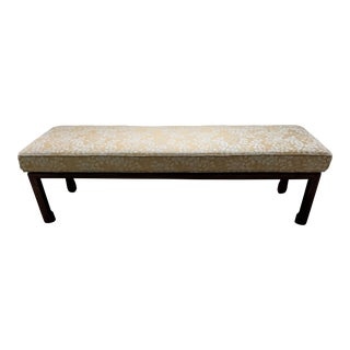 Vintage Ming Upholstered Bench For Sale