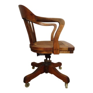 Restored Vintage Swivel Desk Chair By PAGE
