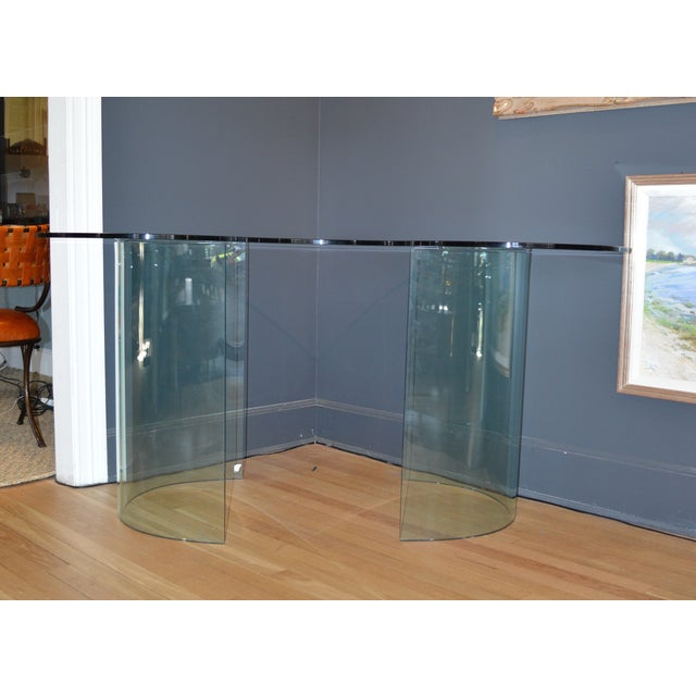 Vnitage 1980s Kidney Shaped Glass Desk - Image 5 of 5