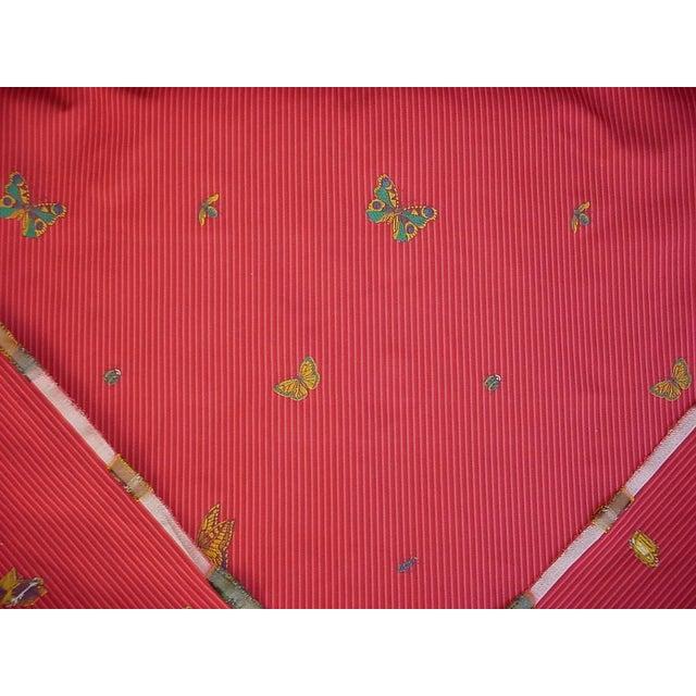 Lee Jofa Transitional Lee Jofa Farfalla Stripe Cherry Butterfly Bee Brocade Upholstery Fabric - 13-5/8y For Sale - Image 4 of 5