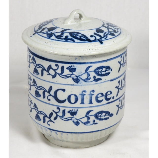 Antique American Stoneware Kitchen Coffee Jar For Sale - Image 13 of 13