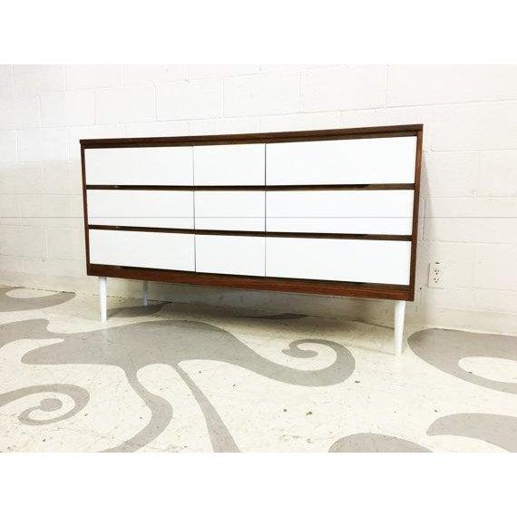 Two-Tone Mid-Century Modern Dresser - Image 2 of 6