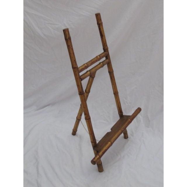 Transitional Large Florentine Style Bamboo Easel - Image 3 of 10
